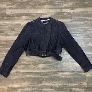 Torrid cropped denim jean jacket